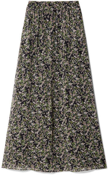 Paul & Joe Imagine Floral-print Silk-crepon Maxi Skirt