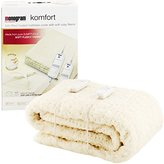 Monogram Komfort Fully Fitted Fleecy Heated Blanket/Mattress Cover - King Size Dual Control 200 x 150cm