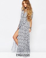 Reclaimed Vintage Wrap Maxi Dress In Floral Print