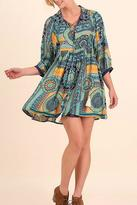 Umgee USA Collared Print Dress