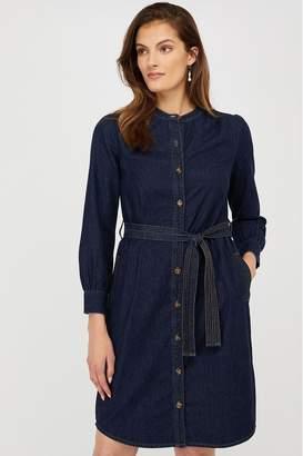 Monsoon Womens Nieve Denim Dress - Blue