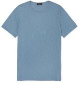 Theory Gaskell Slim-fit Slub Cotton-jersey T-shirt - Light blue