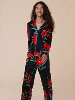 Diane von Furstenberg Long-Sleeve Pajama Top