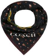 Coach REXY PATCHWORK Scarf black multicoloured