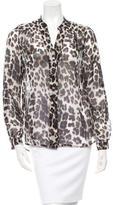 Diane von Furstenberg Leopard Print Silk Blouse
