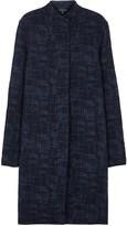 Eileen Fisher Navy Textured Jacquard Jacket