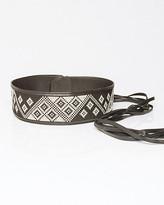 Le Château Leather-Like Woven Obi Belt
