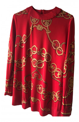 Hermes Red Silk Tops