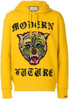 Gucci Modern Future Wildcat hoodie - men - Cotton - S