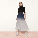 Maje Long tie-dye effect pleated skirt