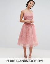 Chi Chi Petite Chi Chi London Petite Allover Lace Tulle Full Prom Midi Skirt