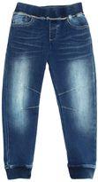 Armani Junior Denim Effect Cotton Sweatpants