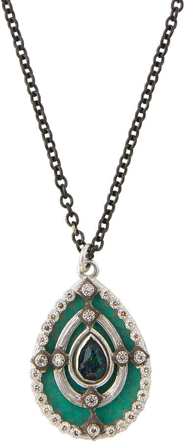 Armenta New World Mosaic Pear Pendant Necklace