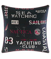 Nautica Heritage Colorblock Collection Printed Text Pillow