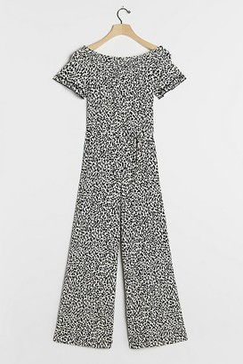 Anthropologie Maya Leopard-Print Jumpsuit