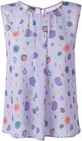 Armani Collezioni printed sleeveless blouse - women - Polyester - 46