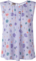 Armani Collezioni printed sleeveless blouse - women - Polyester - 48