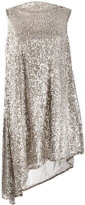 Halpern Sequined Asymmetric Dress