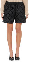 Stella McCartney Women's Diamond-Quilted Faux-Leather Shorts-BLACK