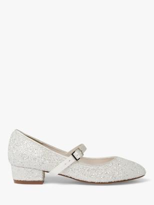 Rainbow Club Edith Glitter Bridesmaids' Shoes, Ivory Snow