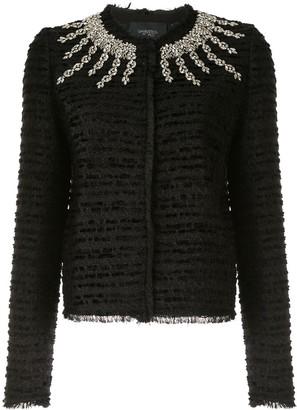 Giambattista Valli Rhinestone-Embellished Tweed Jacket
