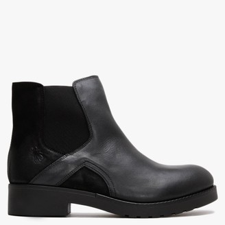 Fly London Boge Black Leather & Suede Chelsea Boots