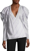 Thumbnail for your product : CARMEN MARCH Striped Ruffle Top