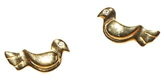 Lele Sadoughi Songbird 14K Goldplated Glass Crystal Stud Earrings