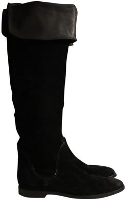 Sergio Rossi Black Suede Boots