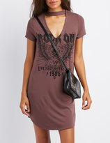 Charlotte Russe Choker Neck Rock On Dress
