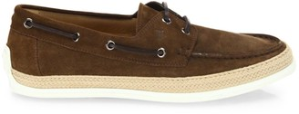 Tod's Suede Espadrille Boat Sneakers