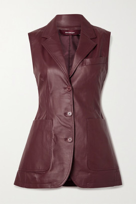 Sies Marjan Leather Vest - Burgundy