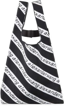 Alexander Wang Striped Jacquard Logo Large Shopper Tote Bag