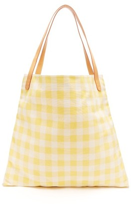 Mansur Gavriel Hobo Oversized Canvas Tote Bag - Womens - Yellow Multi