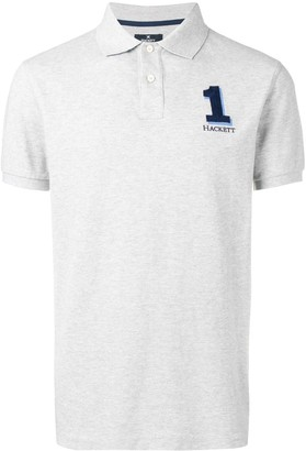 Hackett Number 1 logo polo shirt