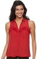 Candies Juniors' Candie's® Ruffle Sleeveless Shirt