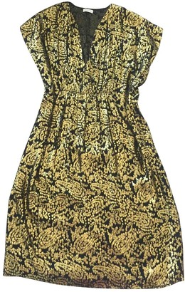 Masscob Gold Silk Dress for Women