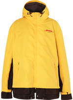 Vetements DHL Oversized Logo-Print Cotton-Blend Canvas and Shell Jacket
