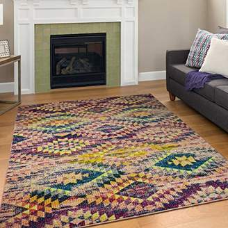"""Camilla And Marc A2Z Rug Modern Colourful Contemporary Design Area Rugs Rio Collection 5710, Multi 200x290 cm - 6'6""""x9.5"""" ft"""