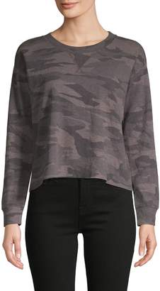 Splendid Camouflage Cotton-Blend Sweatshirt