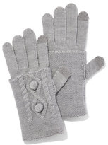 New York & Co. Pom-Pom Cable-Knit Gloves