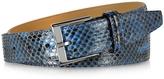 Forzieri Blue Python Leather Men's Belt