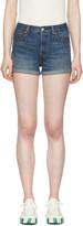 Levi's Levis Blue Denim Wedgie Fit Shorts