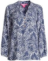 Lilly Pulitzer Elsa Tropical-Print Silk Top