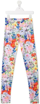 Molo Floral-Print Organic Cotton Leggings