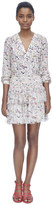 Rebecca Taylor Long Sleeve V-Neck Tapestry Garden Top