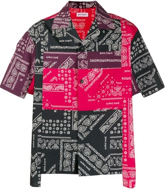 Palm Angels patchwork printed shirt