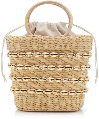 Poolside Embellished Straw Top-Handle Bag