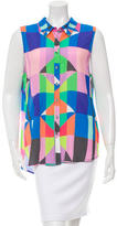 Mara Hoffman Abstract Print Button-Up Top w/ Tags
