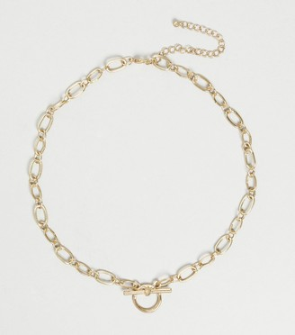 New Look Diamante Embellished Pendant Necklace
